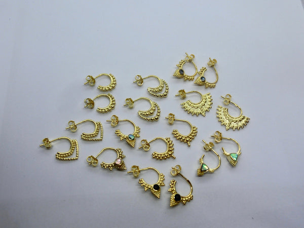Tiny Brass Earrings