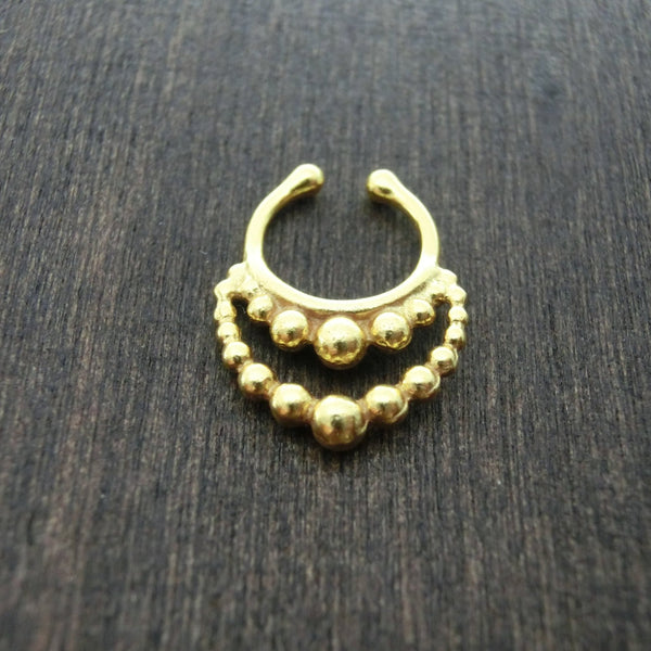 faux septum gold