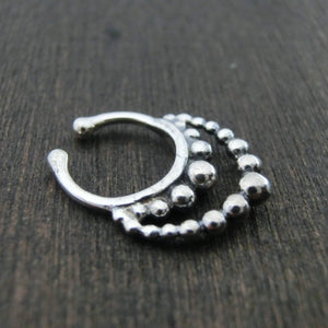 fake septum jewellery sterling silver