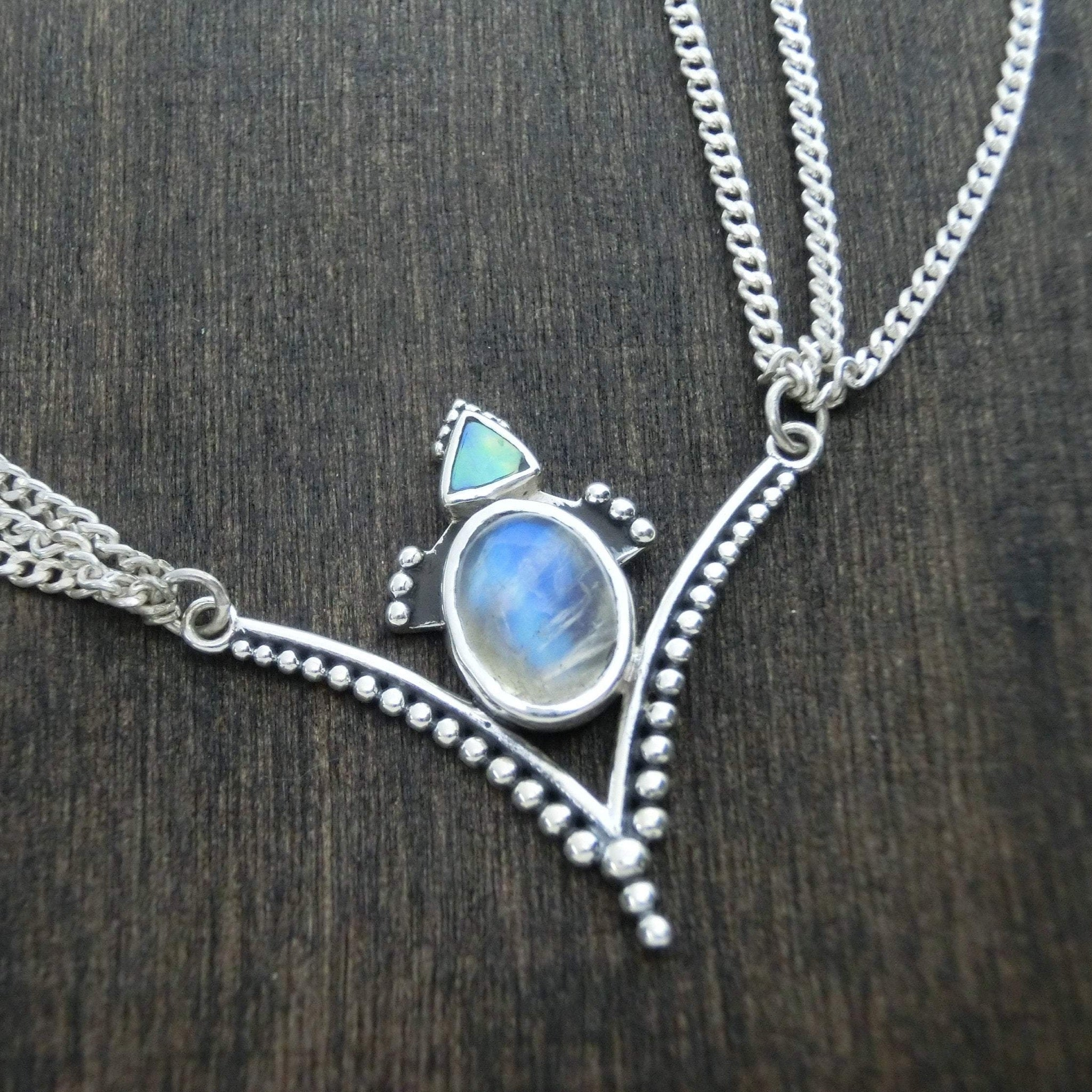 moonstone silver head chain festival accessory