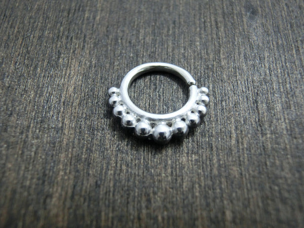 Tribal Silver Septum 16 gauge, 8 mm or 10 mm