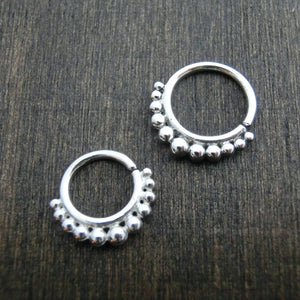 sterling silver septum jewelry