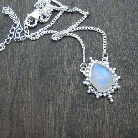 moonstone necklace silver star noomaad