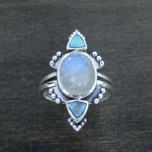 moonstone ring sterling silver ritual