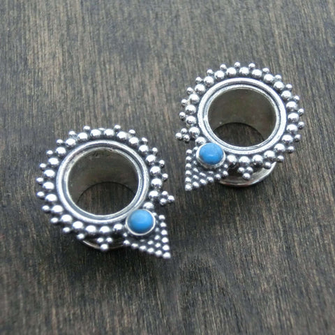 pyramid tunnels silver turquoise