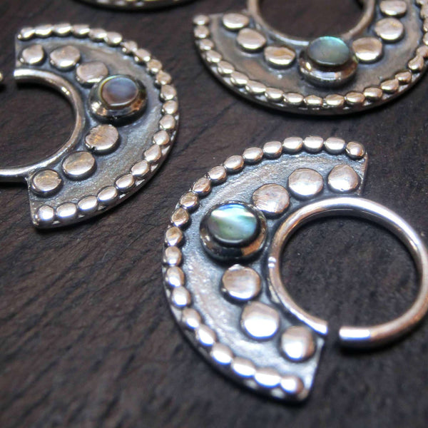 septum jewelry silver tribal style