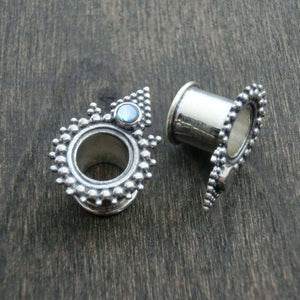 silver tunnels abalone shell gauges tribal style