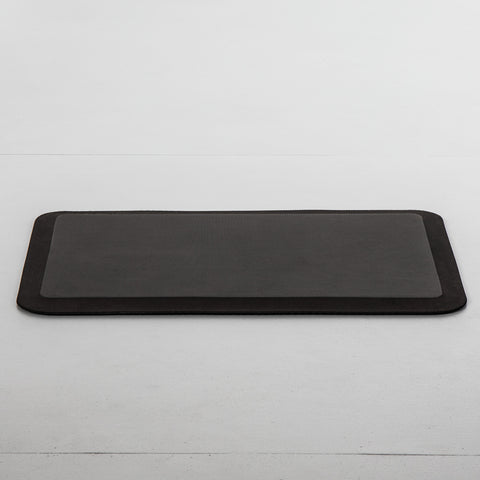 Black anti-fatigue mat made with polyester foam