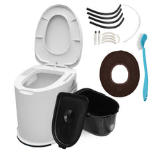 Load image into Gallery viewer, 12L Capacity Comfort Portable Toilet  Mobile Toilet Travel Camping Commode Potty Outdoor/Indoor