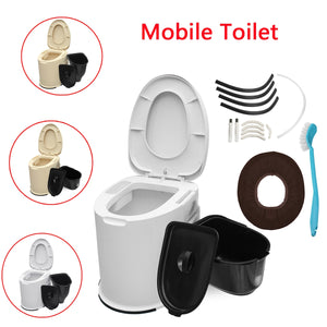 12L Capacity Comfort Portable Toilet  Mobile Toilet Travel Camping Commode Potty Outdoor/Indoor
