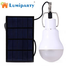 Load image into Gallery viewer, 15W Solar Powered LED Bulb Outdoor Solar Energy Camping lamp LED solar panel light Bulb, Outdoor Solar Tent Camping Light Lamp