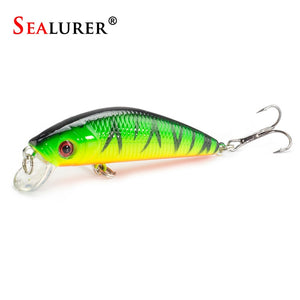 1PCS  Fishing Lure Minnow Crankbait Hard Bait Tight Wobble Slow sinking Jerkbait Fishing Tackle