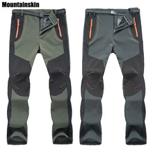 Load image into Gallery viewer, New Winter Men Women Hiking Pants Outdoor Softshell Trousers Waterproof Windproof Thermal for Camping Ski Climbing RM032. Can be shipped From USA
