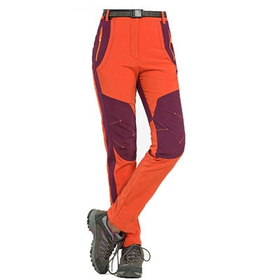 New Winter Men Women Hiking Pants Outdoor Softshell Trousers Waterproof Windproof Thermal for Camping Ski Climbing RM032. Can be shipped From USA