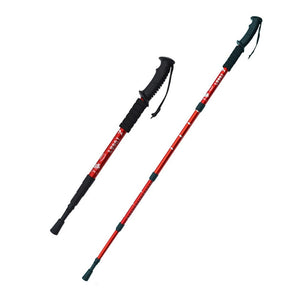 2pcs/lot Trekking Poles Walking Stick Telescopic Alpenstock Aluminum Alloy walking cane hiking accessories