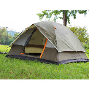 3-4 Person Windbreak Camping Tent Dual Layer Waterproof Open Anti UV Tourist Tents For Outdoor Hiking Beach Travel. From 1 stopoutdoors store USA