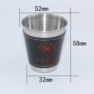 4pcs/lot 70ml Outdoor Camping Tableware Travel Cups Set Stainless Steel Wine, Beer Cup, Whiskey Mugs