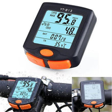 Load image into Gallery viewer, Wireless Bike Computer Speedometer Digital Odometer Stopwatch Thermometer LCD Back light Rainproof Black