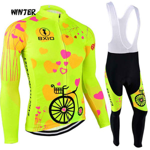 BXIO 2019 Pro Winter Thermal Fleece Woman Cycling jerseys Sets MTB Wear Bike Wear Clothing Ciclismo Long Sleeve Bicycle 125