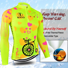 Load image into Gallery viewer, BXIO 2019 Pro Winter Thermal Fleece Woman Cycling jerseys Sets MTB Wear Bike Wear Clothing Ciclismo Long Sleeve Bicycle 125