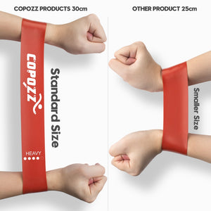 COPOZZ Resistance Bands Fitness Elastic Band 30cm Natural Latex Mini Sport Gym Workout Expander Training Yoga Pilates Exercise