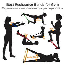 Load image into Gallery viewer, COPOZZ Resistance Bands Fitness Elastic Band 30cm Natural Latex Mini Sport Gym Workout Expander Training Yoga Pilates Exercise