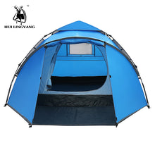 Load image into Gallery viewer, Camping Tent Large Space Double Layer 3-4 person tents Hydraulic Automatic Waterproof 4 Season Outdoor Family beach Hiking Tents
