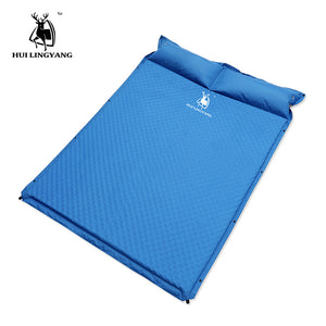 Camping Tent Sleeping Mat Automatically Inflatable Cushion Pad Single Air Mattress Damp-proof Double Mattress Camping Pad Pillow