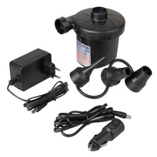 Load image into Gallery viewer, EU Plug Electric Air Pump DC12V/AC230V Inflate Deflate Pumps Car Inflator Electropump with 3 Nozzles
