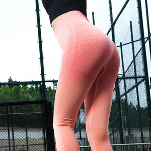 Energy Seamless Leggings High Waist Yoga Pants Workout Gym Leggings Scrunch Butt leggings Gradient Sport Yoga Leggings