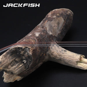 JACKFISH 100M Fluorocarbon fishing line 5-30LB Super strong brand Leader Line clear fly fishing line pesca