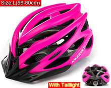 Load image into Gallery viewer, KINGBIKE Cycling Helmet Pink Woman Road Bicycle Helmet Ultralight Mountain Bike Helmet  MTB Cycling Helmet Light Kask Ciclismo