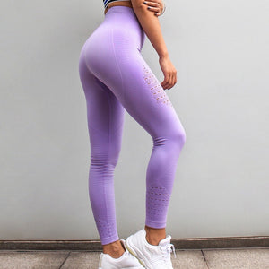 LANTECH Women Yoga Pants Sports Running Sportswear Stretchy Fitness Leggings Seamless Tummy Control Gym Compression Tights Pants