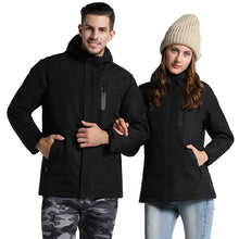 Load image into Gallery viewer, Men Women Winter Thick USB Heating Cotton Jacket Outdoor Waterproof Windbreaker Hiking Camping Trekking Climbing Coats VA342
