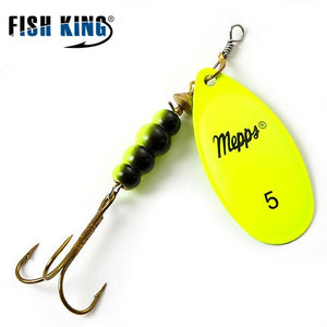 Mepps Spinner Bait  0#-5# 4 Color With Mustad Treble Hooks 35647-BR Arttificial Bait Fishing Lure