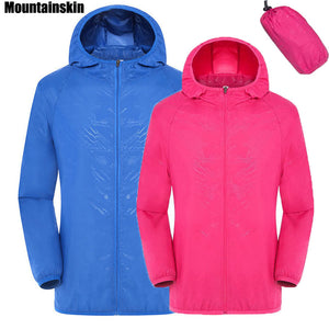 Mountainskin Men's Women's Quick Dry Hiking Jacket Waterproof Sun UV Protection Coats Outdoor Sports Fishing Skin Jackets RW078