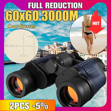Load image into Gallery viewer, New 60X60 Optical Telescope Night Vision Binoculars High Clarity 3000M binocular Spotting scope outdoor Hunting sports eyepiece