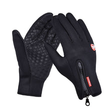 Load image into Gallery viewer, New Winter Outdoor Sport Windstopper Waterproof Gloves Black Riding Glove Motorcycle Gloves Long Finger Cycling Gloves