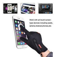 Load image into Gallery viewer, Outdoor Sports Hiking Winter Bicycle Bike Cycling Gloves For Men Women Windstopper Simulated Leather Soft  Warm Gloves