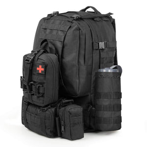 Outdoor Waterproof Travel First Aid Kits Oxford Cloth Tactical Waist Pack Camping Climbing Bag Black Emergency Case Hot sales