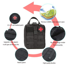 Load image into Gallery viewer, Outdoor Waterproof Travel First Aid Kits Oxford Cloth Tactical Waist Pack Camping Climbing Bag Black Emergency Case Hot sales