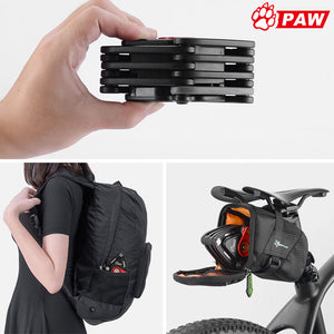 PAW 2018 New Foldable Bike Lock With 2 Keys Strong Security Anti-theft Bicycle Lock Alloy Mount Bracket Mountain Road Bike Lock