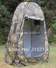 Load image into Gallery viewer, Portable Privacy Shower Toilet Camping Pop Up Tent Camouflage/UV function outdoor dressing tent/photography tent