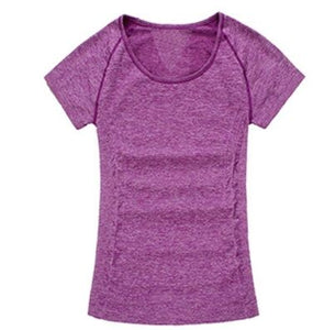 Quick Dry Stretch Slim Fit Yoga Women's Sport T Shirt Fitness Shirt Yoga Running