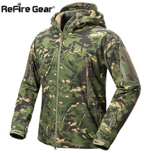 Load image into Gallery viewer, ReFire Gear Shark Skin Soft Shell Tactical Military Jacket Men Waterproof Fleece Coat Army Clothes Camouflage Windbreaker Jacket. From 1stopoutdoors store USA