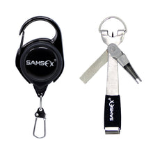 Load image into Gallery viewer, SAMSFX Fishing Quick Knot Tool Pro Fast Tie Nail Knotter Tying Line Cutter Clipper Nipper w/ Zinger Retractor Tackle Accessories