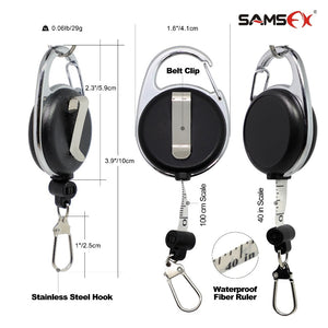 SAMSFX Fishing Quick Knot Tool Pro Fast Tie Nail Knotter Tying Line Cutter Clipper Nipper w/ Zinger Retractor Tackle Accessories