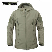 Load image into Gallery viewer, TACVASEN Army Camouflage Men Jacket Military Tactical Jacket Men Soft Shell Waterproof Windproof Hunt Jacket Coat Raincoat 4XL. From 1stopoutdoors Store USA