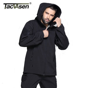 TACVASEN Army Camouflage Men Jacket Military Tactical Jacket Men Soft Shell Waterproof Windproof Hunt Jacket Coat Raincoat 4XL. From 1stopoutdoors Store USA