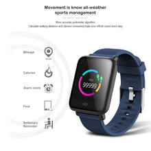 Load image into Gallery viewer, VERYFiTEK Q9 Blood Pressure Heart Rate Monitor Smart Watch IP67 Waterproof Sport Fitness Trakcer Watch Men Women Smartwatch